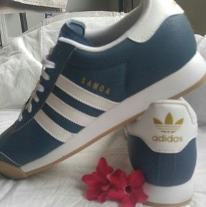 Men's Samoa Adidas blue brand new w box